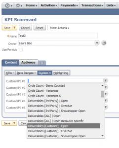 Select a custom KPI