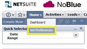 Set NetSuite preferences