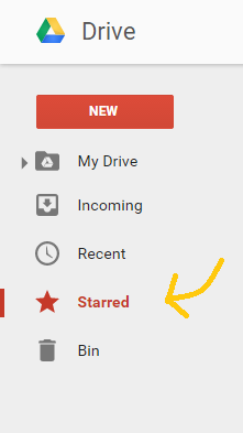 Google Drive starred
