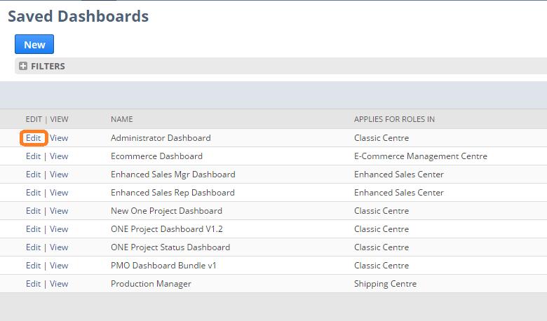 NetSuite tips - choose dashboard