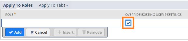 NetSuite tips - overide settings