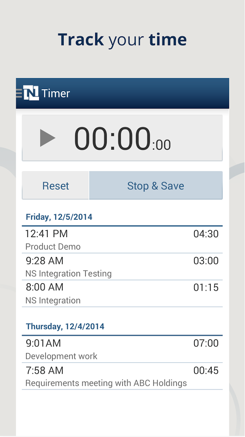 NetSuite_for_Android_track_your_time