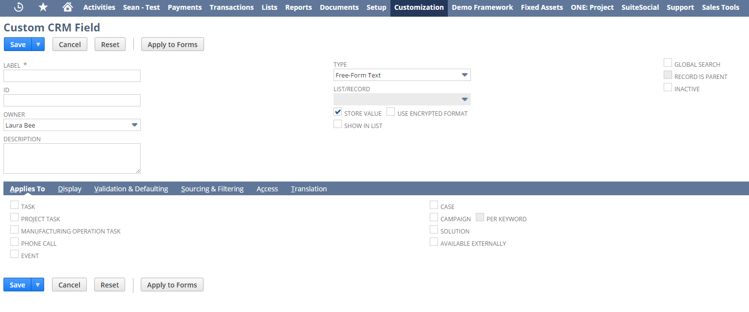 NetSuite_tips_custom_CRM_field