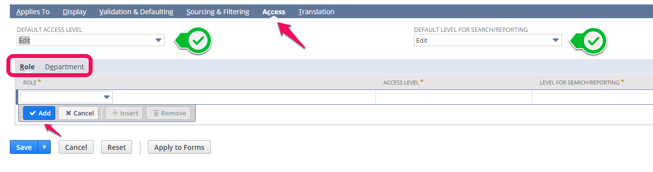 NetSuite tips - restricting access to a custom field