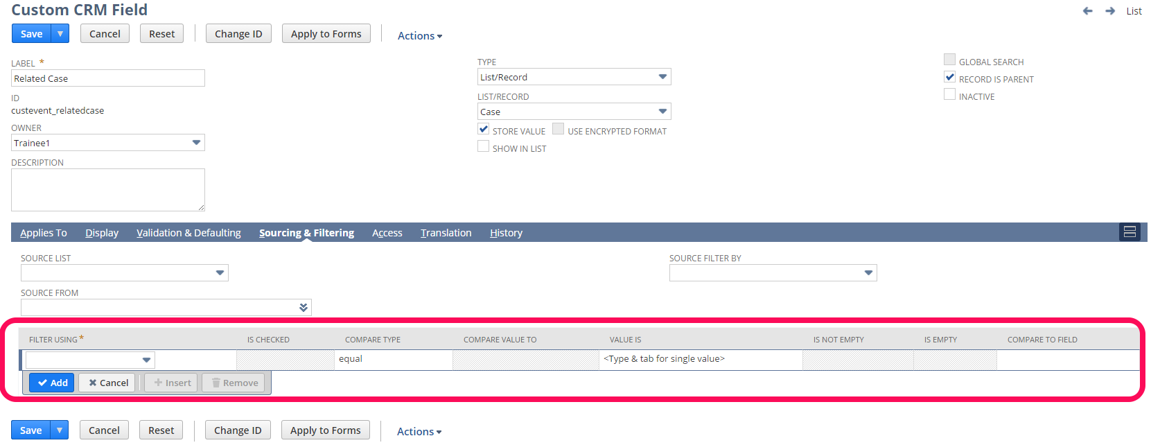 NetSuite tips - setting filtering criteria
