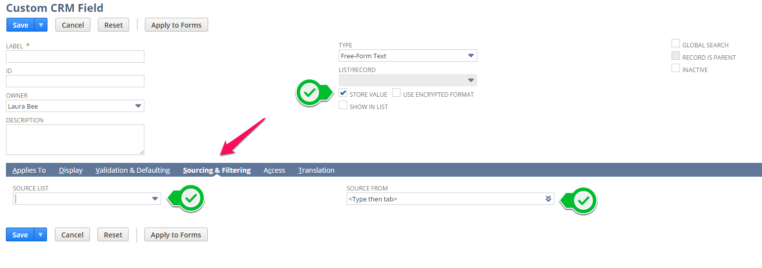 NetSuite tips - sourcing and filtering custom fields