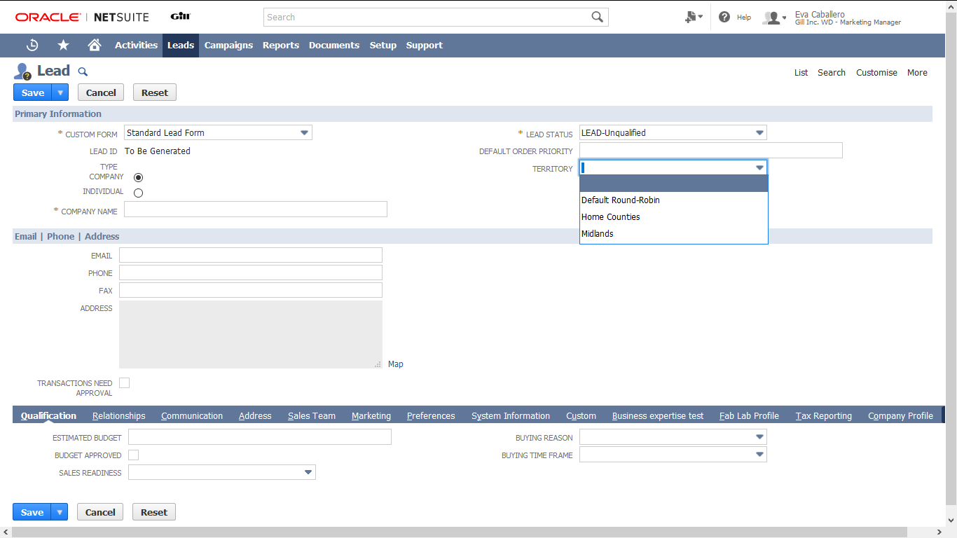 Manage & Customise Leads With Oracle NetSuite CRM | NoBlue