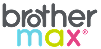 A small size rectangular brother max logo presented with no background.