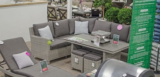An image presenting the garden furniture display.
