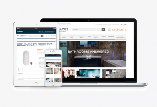 Abacus Bathrooms Website by NoBlue